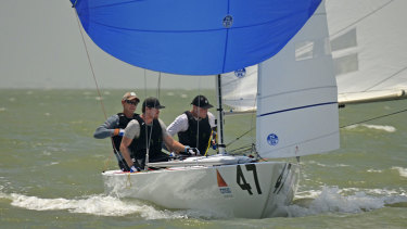 The crew of Magpie, the other AM Etchells in Texas.