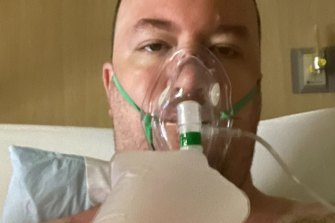 """""""I should have gotten the damn vaccine,"""" Micheal Freedy, 39, of Las Vegas, texted his fiance from hospital."""