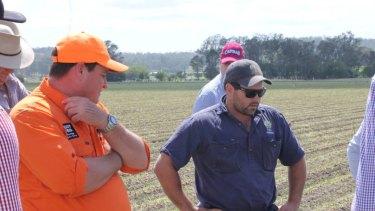 Kalfresh boss Richard Gorman and farmer Ben Moore count their losses.