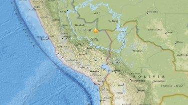 A 7.1 magnitude earthquake has been recorded on the Peru-Brazil border.