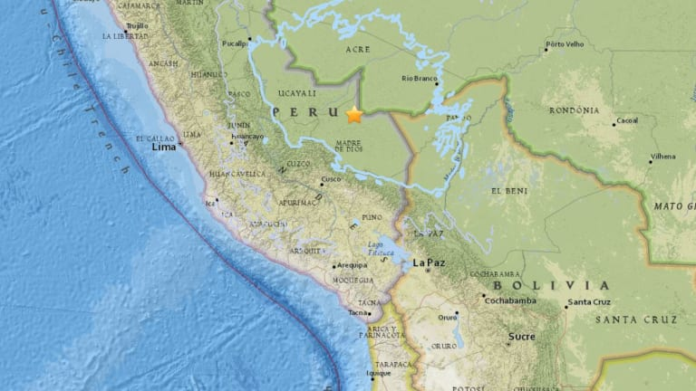A 7.1 magnitude earthquake has been recorded on the Peru-Brazil border.