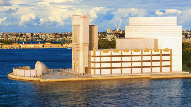 Sydney Symphony Orchestra conductor Sir Eugene Goossens asked artist Bill Constable to sketch a preliminary idea for a building at Bennelong Point prior to the competition.