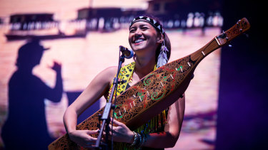 Alena Murang of the Kelbit people from Sarawak during a concert for Small Island Big Song.