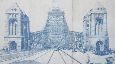 Norman Selfe's winning bridge design. Unfortunately, it never got built.