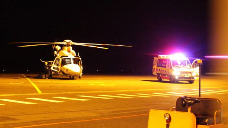 A helicopter at Orange Airport on Tuesday night transported both patients to hospital.