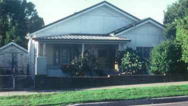Jenny Haynes' family home in Greenacre. Assaults took place in the adjoining shed.