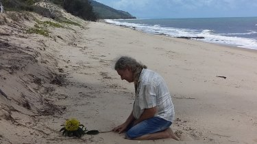 Troy Cordingley returned to Wangetti Beach for the first time since his daughter Toyah Cordingley was found dead.