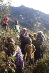 West Papuan women and children fleeing Indonesian military operations in Nduga province in 2019.