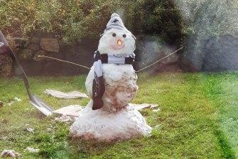 Another backyard snowman in Gisborne.