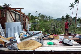 Tropical cyclone Yasa tore through Fiji on December 17.