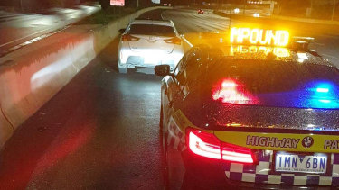 Four people were fined for COVID-19 breaches on Mondayafter a car was detected travelling at 175km/h on the Tullamarine Freeway.