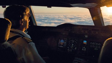 """Studies have shown that pilots feel that their work is their calling. """"Following the lines of clouds and weaving between them – that's a wonderful thing,"""" says Richard de Crespigny."""
