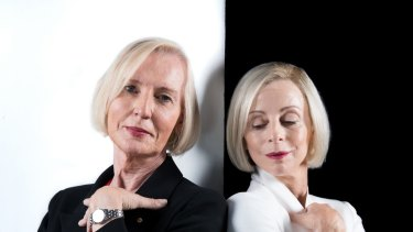 Catherine McGregor, left, and Heather Mitchell, who played Catherine in a Sydney Theatre Company play in 2018.