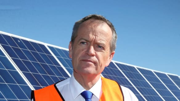 Bill Shorten sets new course on climate, boosting renewables and subsidising batteries for 100,000 homes