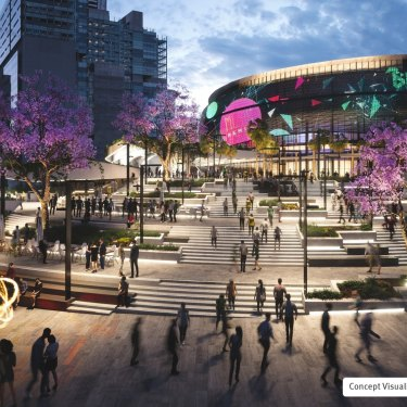 Concept designs for the Brisbane Live arena.