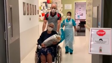 Queensland's first coronavirus victim has been released from the Gold Coast University Hospital.