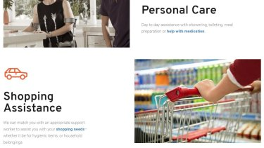 Services offered by United Mission include in-home personal care and shopping assistance.
