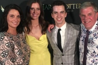 The McKenna family at the premiere of Harry Potter and the Cursed Child: Michelle, Maddelin, William and Chris.