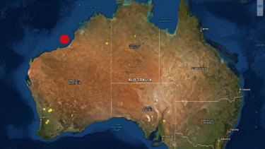 The earthquake hit 203km off the coast at 1.30pm WST.