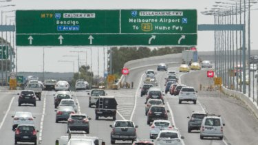 The new overpass should ease congestion on the Tullamarine Freeway.