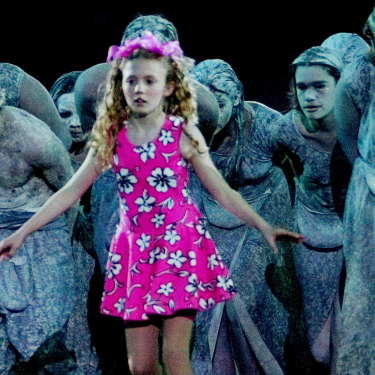 Nikki Webster, 13, performs in the Aboriginal sequence of the opening ceremony of the Olympics in Sydney.