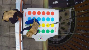 Fancy a game of Twister, 61 metres in the air?