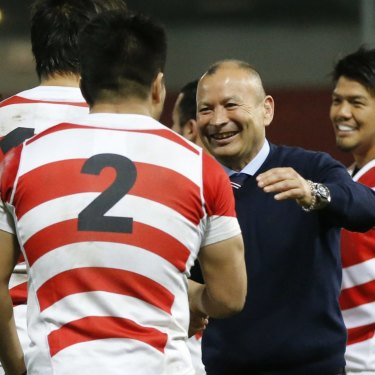 Eddie Jones during his time as Japan caoch.