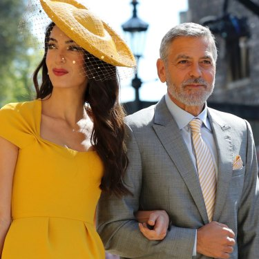 Amal and George Clooney were among the celebrity guests.