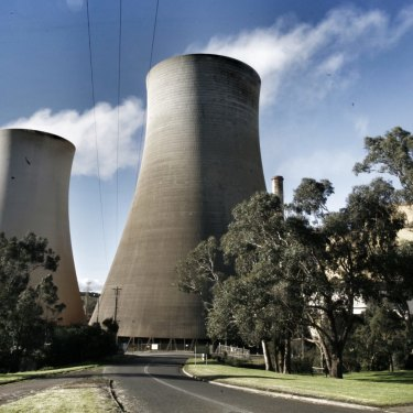 The Yallorn power station near Morwell in Victoria.