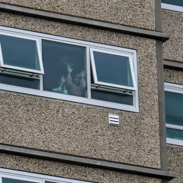 Residents were stuck in their public housing towers when the Andrews government suddenly locked them down in July 2020.