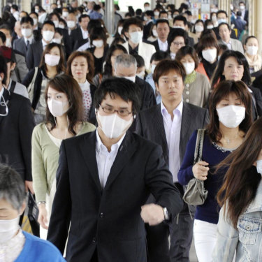 Face masks were worn everywhere in Asia during the 2009 swine flu outbreak.