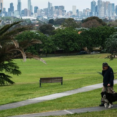 The view of Melbourne from Hawthorn East's Anderson Park. The median house price has climbed by $200,000 to $2.6 million over the past 12 months.