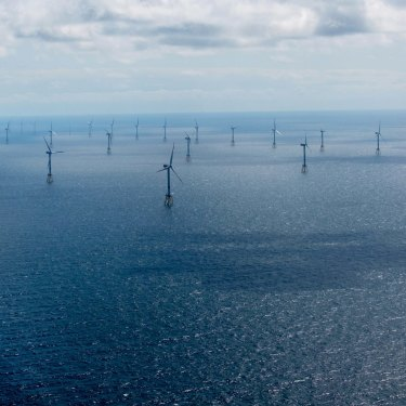 An offshore wind farm operated by Germany's old coal giant RWE.