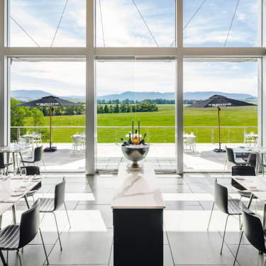 The dining room at Yarra Valley's Yering Station.