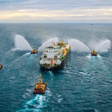 The first LNG cargo is shipped to Japan from Chevron's Gorgon LNG project in Western Australia in 2016.