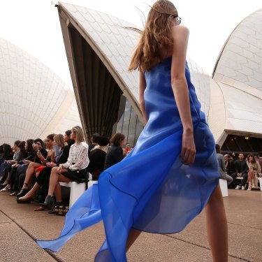 Dion Lee has shown his collection twice at the Sydney Opera House.