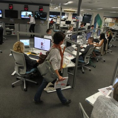 The Sydney Morning Herald newsroom, 2014.