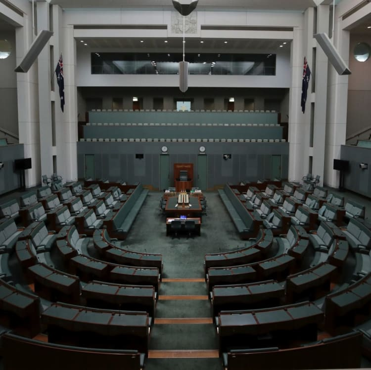 The empty House of Representatives chamber after it adjourned early on Thursday.