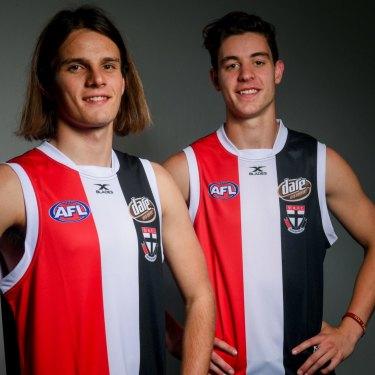 Saints recruits Hunter Clark and Nicholas Coffield.