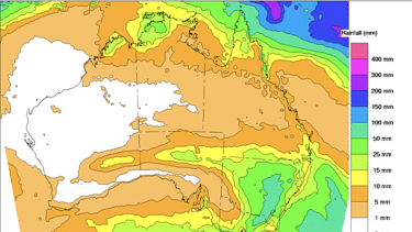 The eight-day rainfall map shows that some parts of NSW could see as much as 100 millimetres of rain.