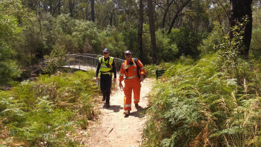 SES and police searching for human remains in the Grampians.