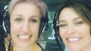 Angela Pulvirenti and Kat Stewart, hosts of entertainment podcast How Big Is My Trailer.