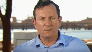 WA Premier Mark McGowan said the situation was not ideal.
