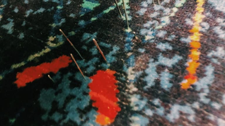 The needles allegedly planted in a Metro train seat.