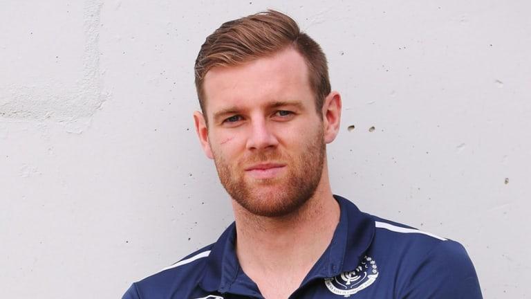 Injured Carlton co-captain Sam Docherty.