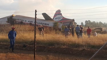 A vintage plane crash in South Africa has killed two people.