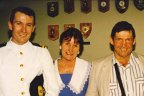 Mark McGowan with his parents Dennis and Mary in the mid-90s.
