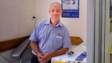 Peter Funnell got a new job in pathology collection after completing a Certificate IV at TAFE.