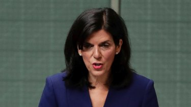 Julia Banks in the House of Representatives, announcing her decision to quit the Liberal party and join the crossbench.