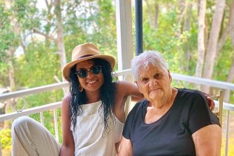 Teela Reid started a Facebook page and warned family and friends to keep their distance from elders, including her  grandmother, Aunty Dawn (Stella Reid), in Gilgandra, to stop the spread of COVID.